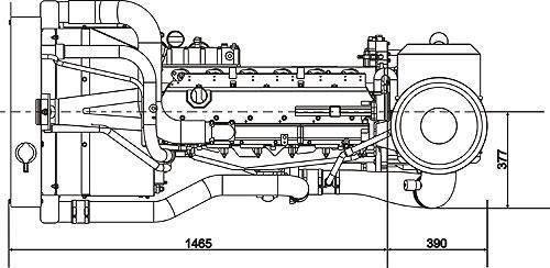 Габаритный чертеж Volvo Penta TAD731GE