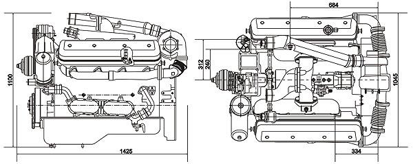 Габаритный чертеж ЯМЗ-7511.10