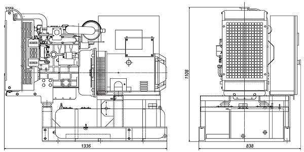 Габаритный чертеж дизельной электростанции ПСМ ADP-10