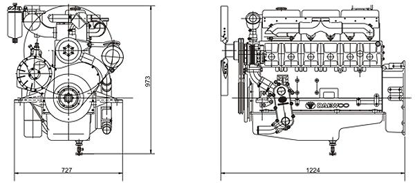 Габаритный чертеж Doosan D1146