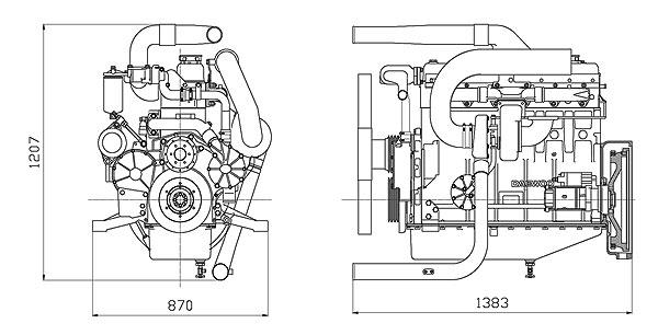 Габаритный чертеж Doosan P126TI-II