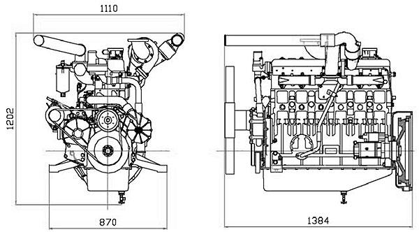 Габаритный чертеж Doosan P126TI