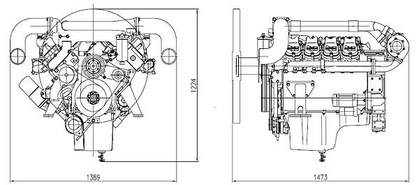 Габаритный чертеж Doosan P158LE