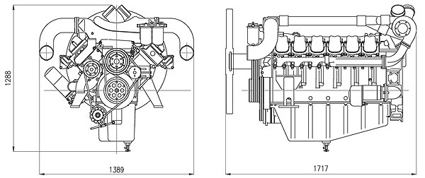 Габаритный чертеж Doosan P222LE-II